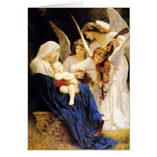 Madonna and Child and Three Angels Card