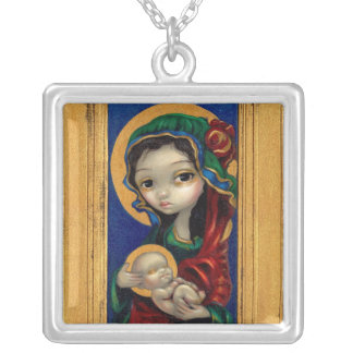 Madonna and Child at Night NECKLACE mary icon