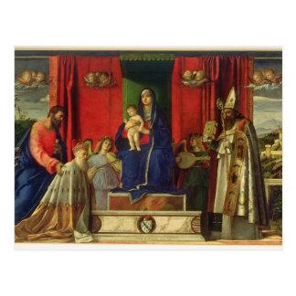 Madonna and Child (Barbarigo Altarpiece) 1488 Postcard