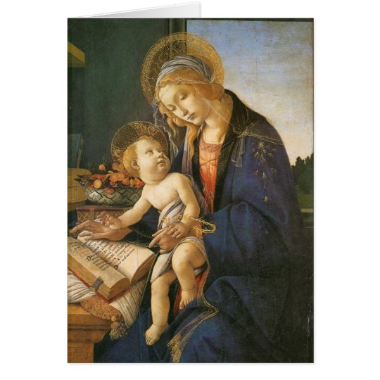 Madonna and Child Botticelli Christmas Card