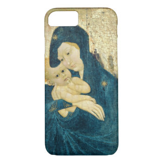 Madonna and Child, Bourgogne School (oil on panel) iPhone 7 Case