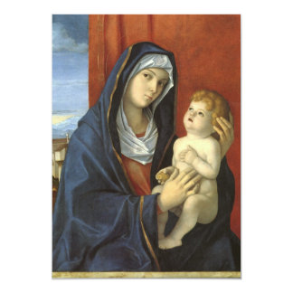 Madonna and Child by Giovanni Bellini, Baby Shower Card