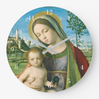 Madonna and Child by Giovanni Bellini Wall Clock