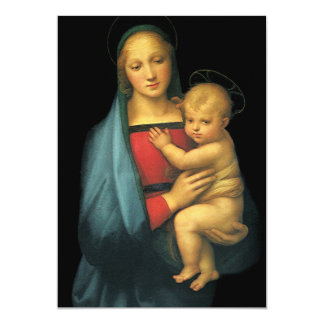 Madonna And Child by Raphael, Baby Shower Card