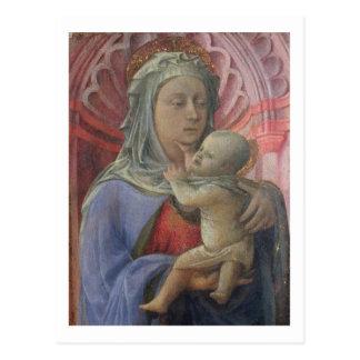 Madonna and Child, c.1430 (tempera on panel) Postcard