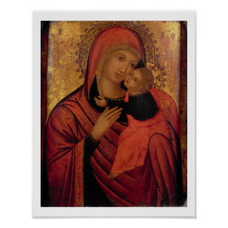 Madonna and Child, c.1650 (panel) Poster