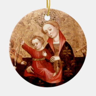 Madonna and Child: Catalunya Ceramic Ornament