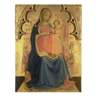 Madonna and Child, central panel of a triptych Postcard
