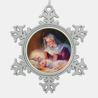 Madonna and Child  Christmas Snowflake Ornaments