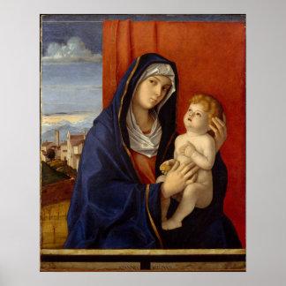 Madonna and Child, circa 1485 Poster