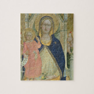Madonna and Child enthroned with Saints, detail sh Jigsaw Puzzle