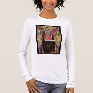 Madonna and child enthroned with six angels (panel long sleeve T-Shirt