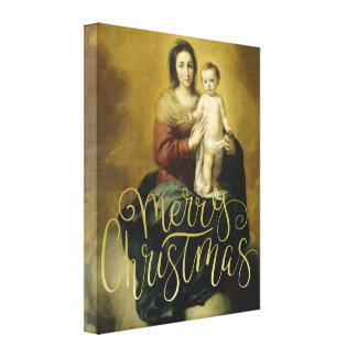 Madonna and Child, Fine Art Christmas Canvas