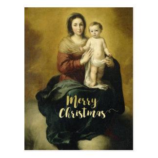 Madonna and Child, Fine Art Christmas Postcard