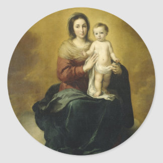 Madonna and Child, Fine Art Christmas Sticker