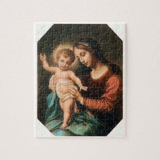 Madonna And Child Jigsaw Puzzle