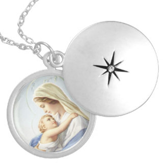 Madonna and Child Locket Necklace