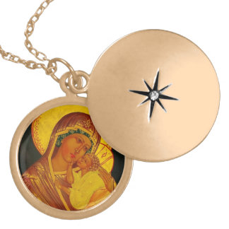 Madonna and Child Locket Type Necklace