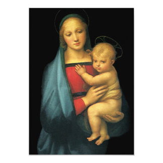 Madonna And Child, Madonna del Granduca by Raphael Card