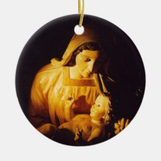 Madonna and Child: Madrid Ceramic Ornament