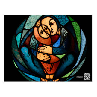 MADONNA AND CHILD multicolored simbol Postcard
