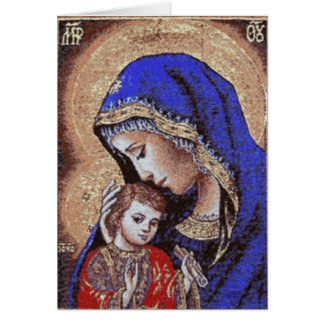 Madonna and Child Note Card