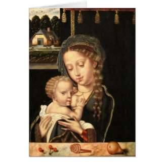 Madonna and Child Nursing Card