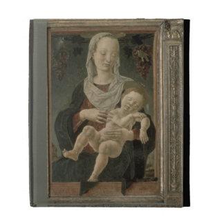 Madonna and Child (oil on panel) iPad Folio Covers