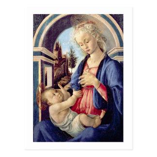 Madonna and Child (panel) 2 Postcard