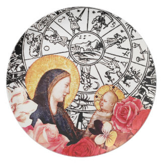 madonna and child plate