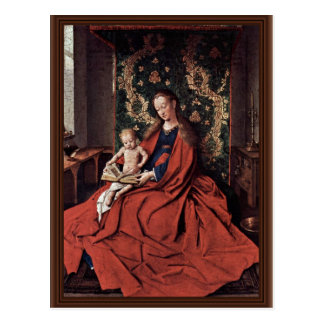 Madonna And Child Reading By Eyck Jan Van (Best Qu Postcard