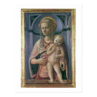 Madonna and Child (tempera on panel) Postcard