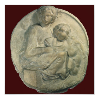 Madonna and Child, Tondo Pitti by Michelangelo Card