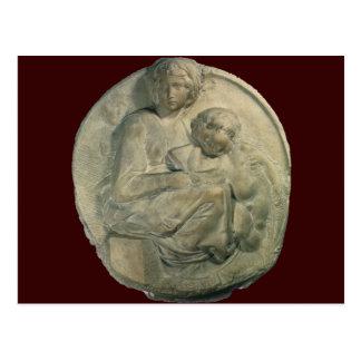 Madonna and Child, Tondo Pitti by Michelangelo Postcard