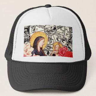 madonna and child trucker hat