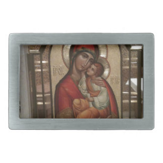 Madonna and child; Virgin Mary Belt Buckle