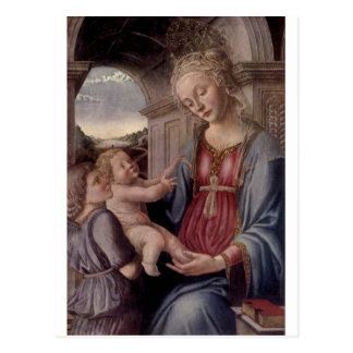 Madonna and Child With Angel by Fra Lippo Lippi Postcard