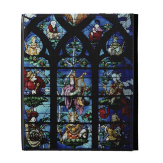 Madonna and Child with angels and portraits reflec iPad Folio Cases