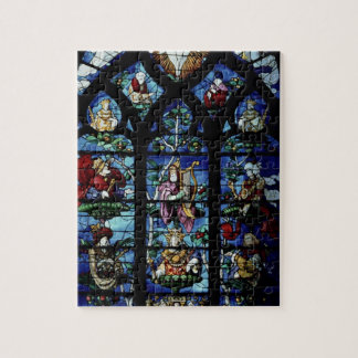 Madonna and Child with angels and portraits reflec Jigsaw Puzzle