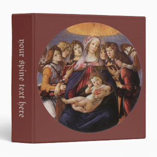 Madonna and Child with Angels by Sandro Botticelli 3 Ring Binder