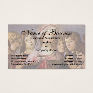 Madonna and Child with Angels by Sandro Botticelli Business Card