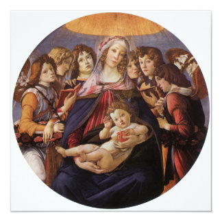 Madonna and Child with Angels by Sandro Botticelli Card