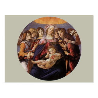 Madonna and Child with Angels by Sandro Botticelli Postcard