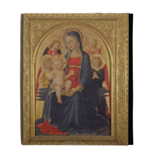 Madonna and Child with Angels, c.1467 (oil on pane iPad Case