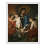 Madonna and Child with angels Print