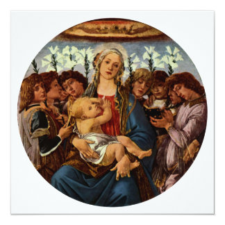 Madonna and Child with Eight Angels by Botticelli Card