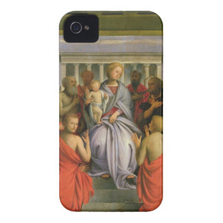 Madonna and Child with Eight Saints, 1520s (temper iPhone 4 Covers