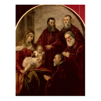 Madonna and child with four Statesmen Postcard