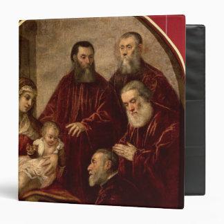 Madonna and child with four Statesmen Vinyl Binder