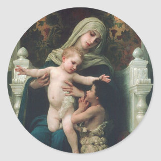 Madonna and child with John the Baptist sticker